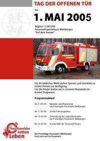FF Wettbergen: Tag der offenen T�r 2005