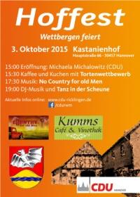 Hoffest am 3. Oktober 2015: Wettbergen feiert